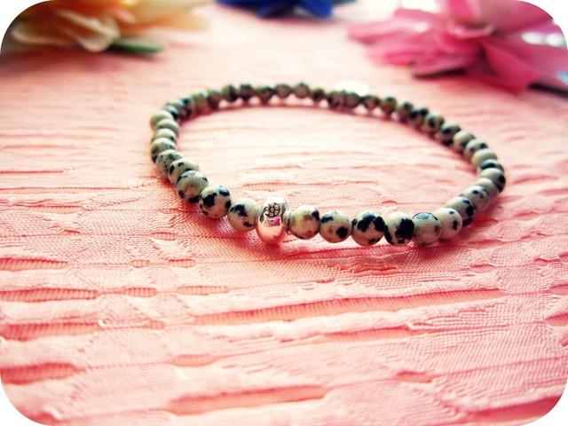 Dalmatian Jasper Stretch Bracelet.
