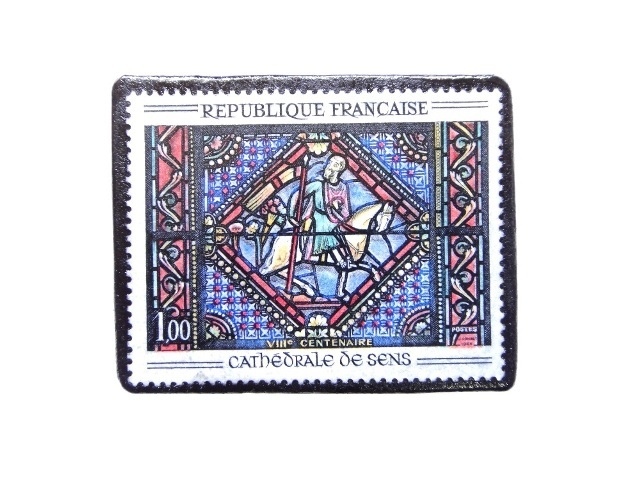 フランス1965年 切手ブローチ 263