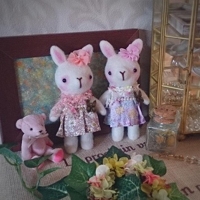 ウサギのお人形(ピンク)