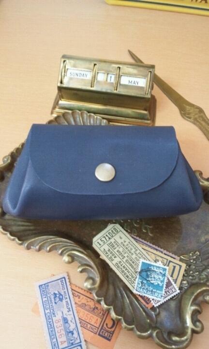 ころん財布(ポーチ):デニムブルー(紺色)