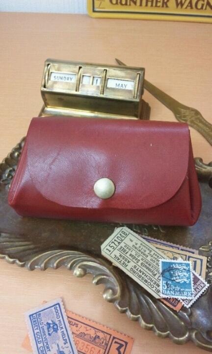 ころん財布(ポーチ):ワインレッド
