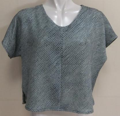 着物リメイク 絞りの羽織で作ったTシャツ 1524