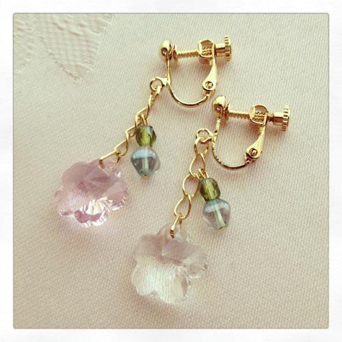 桜花のイヤリング