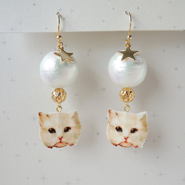 ??再?? Day & Night Cats ピアス - Day -