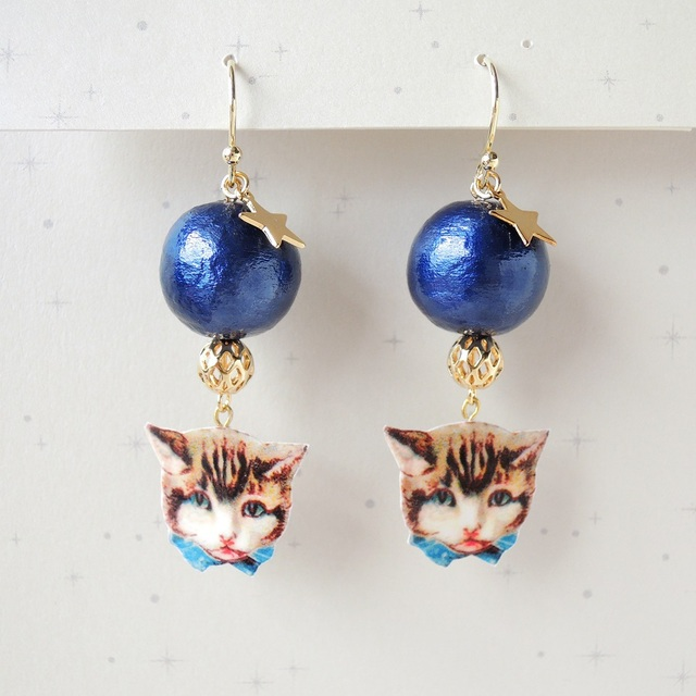 Day & Night Cats ピアス - Night -