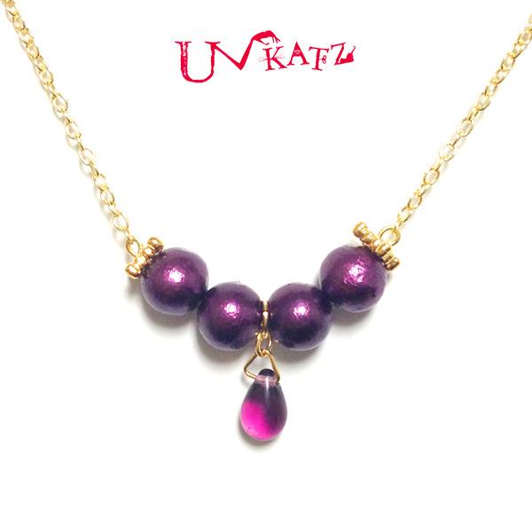 Ukatz NO.255-5 紫の女王ネックレス