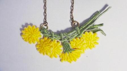 花かんむりネックレス(たんぽぽ)