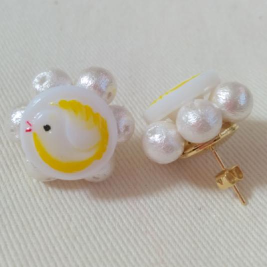 Animal Flowerピアス(little Bird)