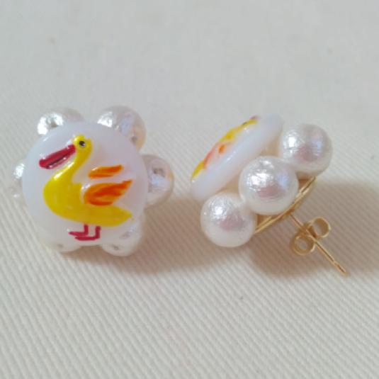 Animal Flower ピアス(Yellow Bird)