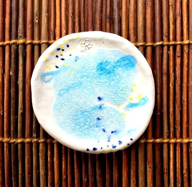★蝶々ガラス豆皿