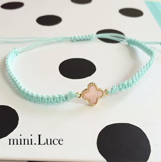 【shellFlower】bracelet or anklet/cyan