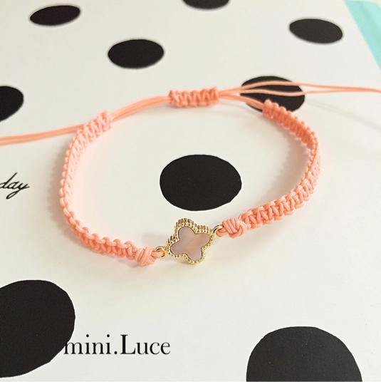 【shellFlower】bracelet or anklet/shineorange
