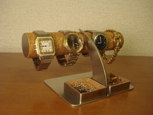 アクセサリー角ダブルトレイ腕時計スタンド