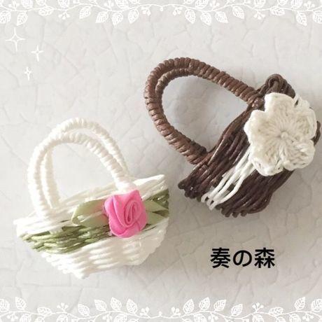 16-0508 ミニかごのオブジェ(2個組)