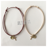 code anklet#nameTAG☆realleather