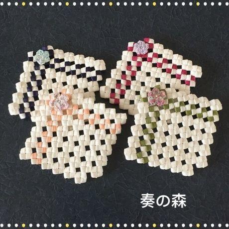 16-0510 四つ畳み編みのコースター(4枚セット)