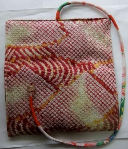 着物リメイク 絞りの羽織で作った和風財布 1533