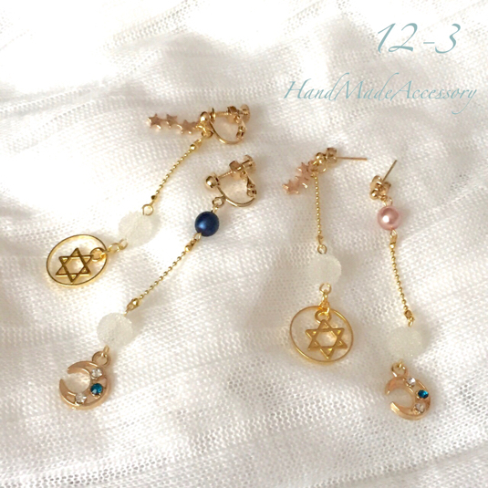 【再々販】Magic triple star  earring/pierce