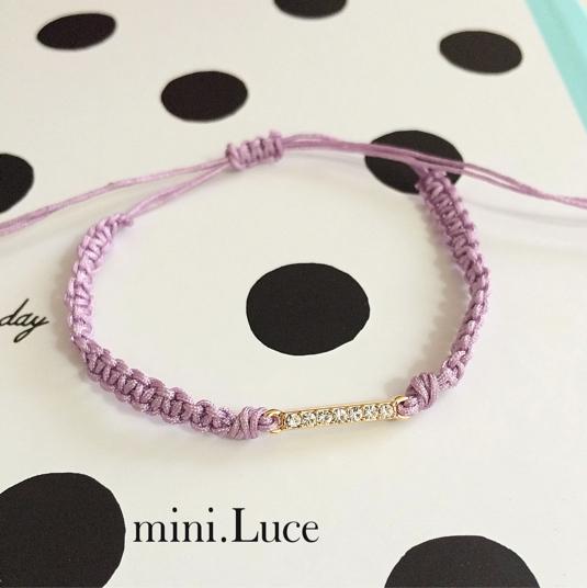 ��Twinkleline��bracelet or anklet/noblepurple