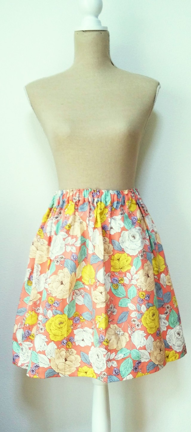 summer sale! no55*flare skirt* purity~salmonpink