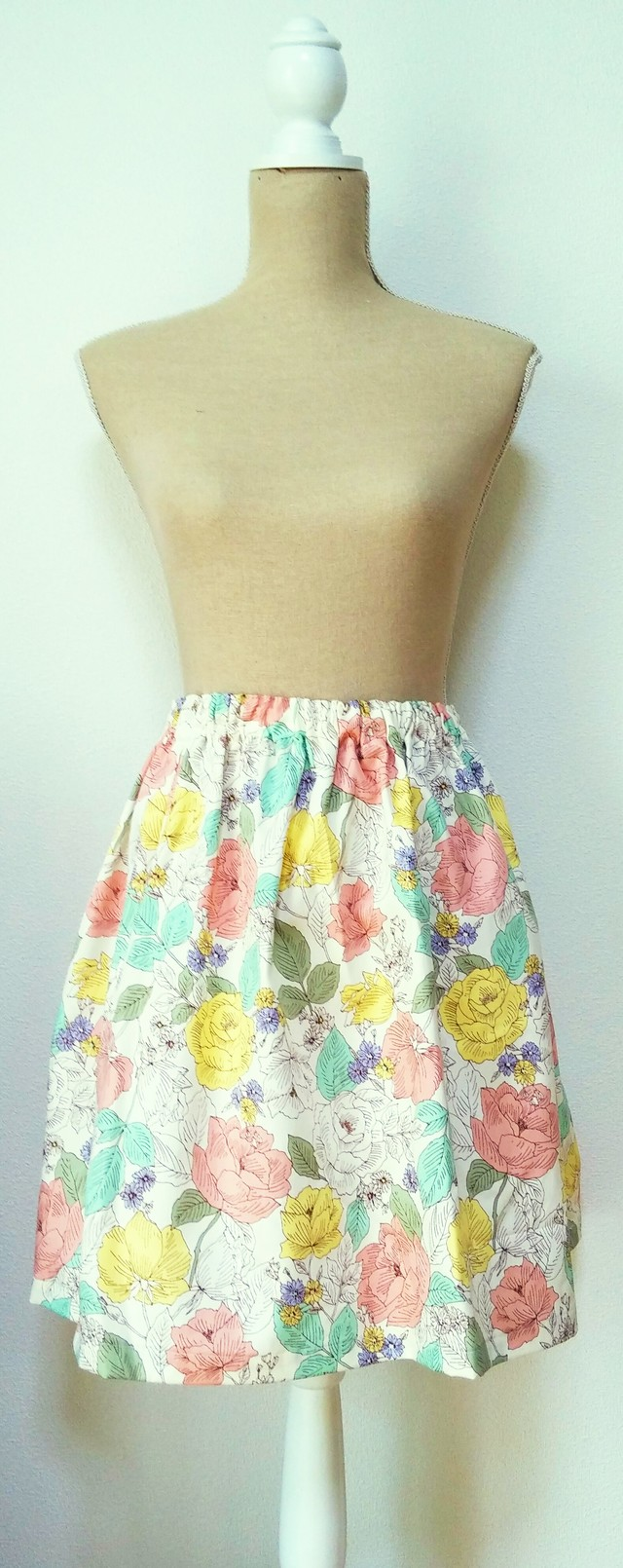no56*flare skirt* purity~white