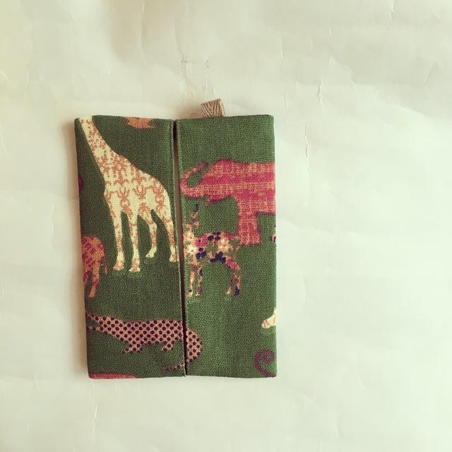 リネン 動物柄のポケットティッシュ入れ(087)