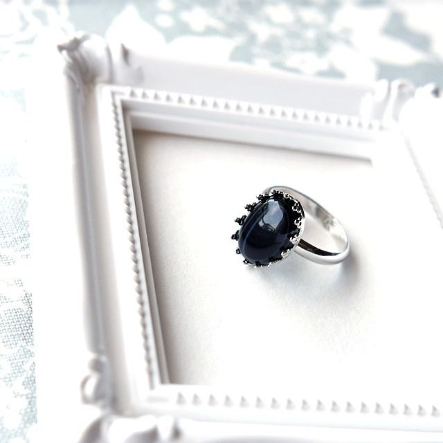 漆黒の花(ブラックオニキスのリング その1