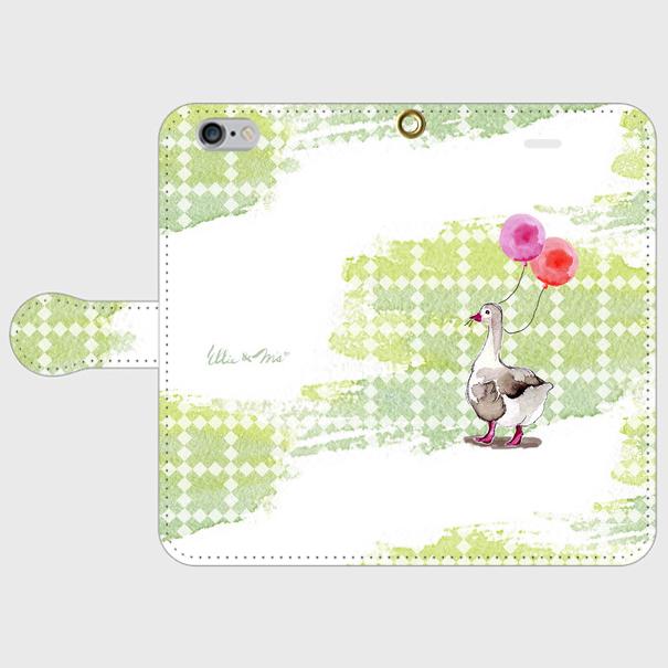 ダックの散歩道 手帳型ケース iPhone6/6s
