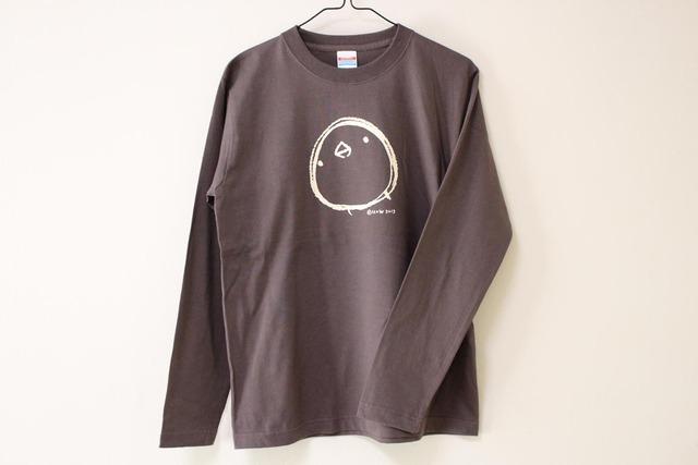 ひよこさんシンプル長袖Tシャツ チャコール(Mens-M)