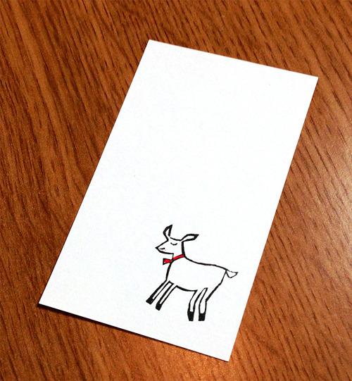 子やぎ メッセージカード15枚