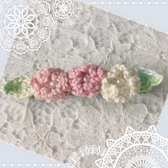 ピンク小花のミニバレッタ