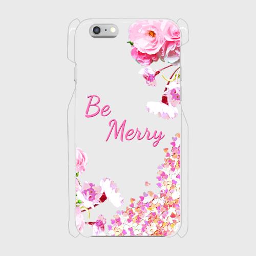 Be Merry 表面のみ印刷 iPhone6/6s 透明ケース