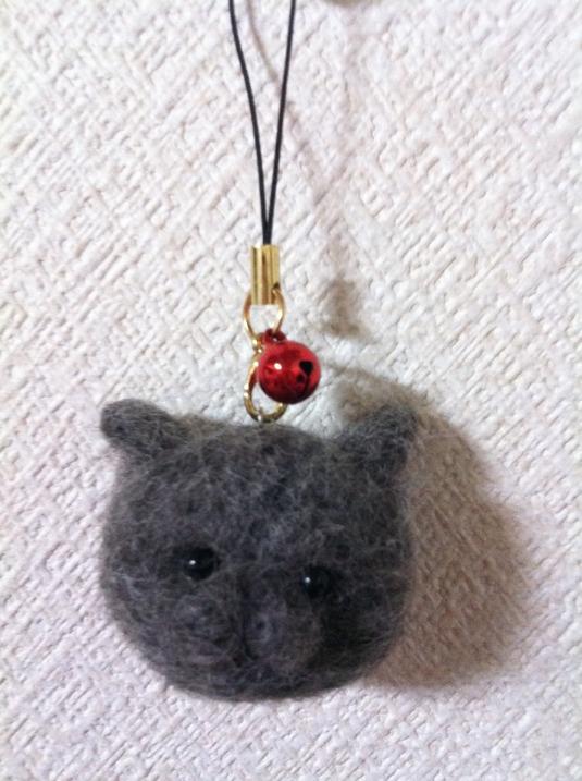ストラップ 黒ネコの『TAKUさん』