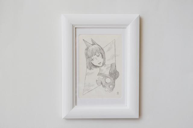 【鉛筆画】枠を越えて 原画作品
