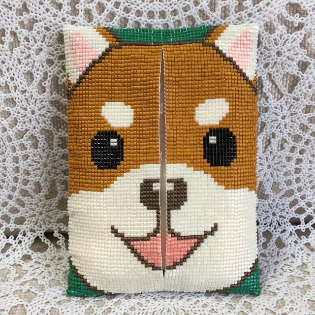 ティッシュケース(柴犬?)