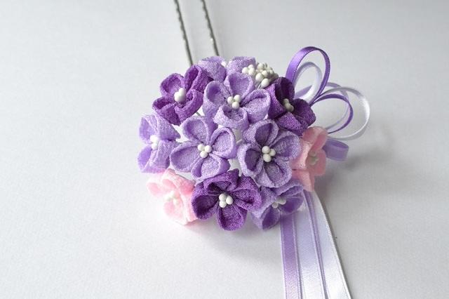 tumami*紫陽花ブーケ 簪