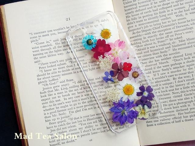 右寄せお花のiphone5.5sカバー
