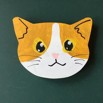 猫のマグネット『茶ハチワレ』