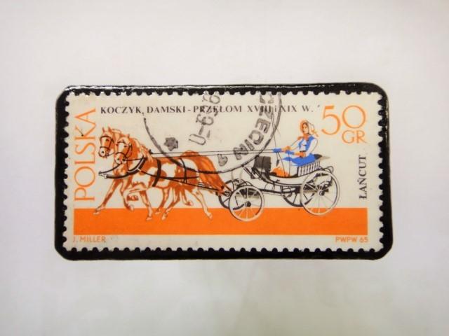ポーランド馬切手ブローチ1219