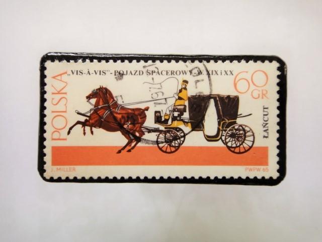 ポーランド馬切手ブローチ1221