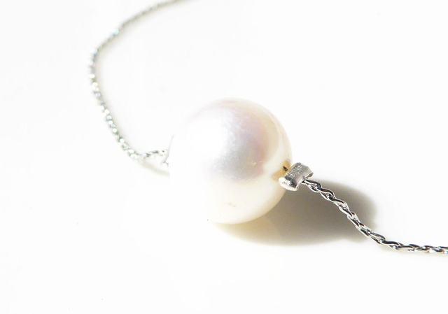 淡水真珠の華奢なブレスレット*シルバー