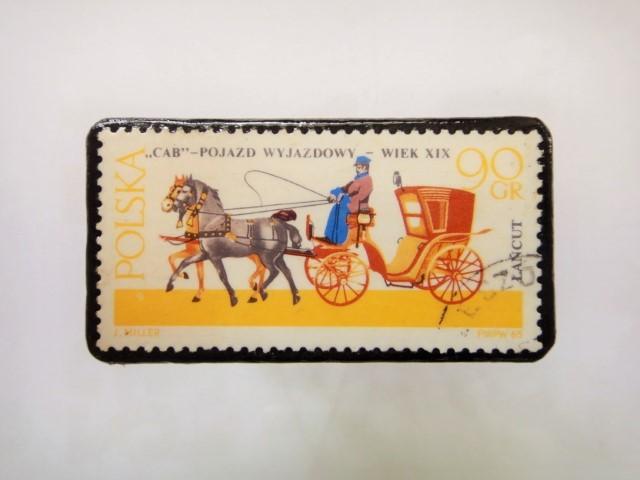ポーランド馬切手ブローチ1223