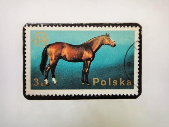 ポーランド馬切手ブローチ1224