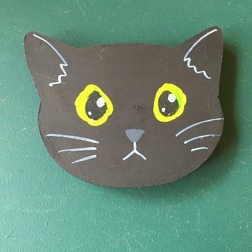 猫のマグネット『黒猫』