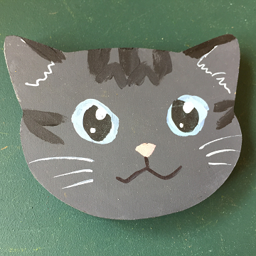 猫のマグネット『サバトラ』