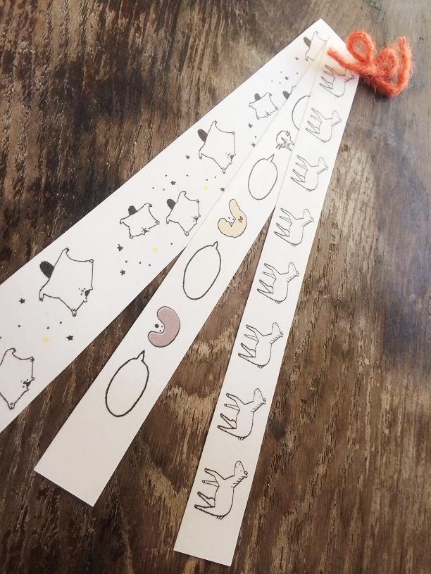 【送料無料】愉快な動物マスキングテープ(B-2)