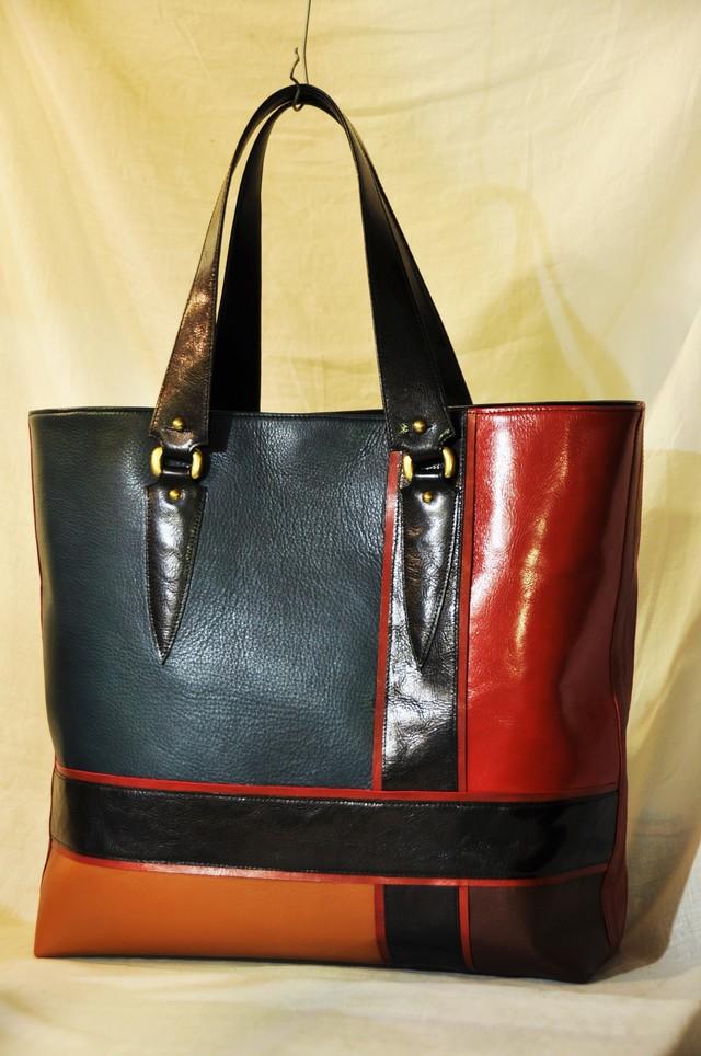 特大レザートートバッグ LRC bag黒帯