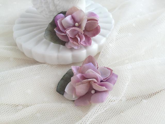 紫陽花ピアス violet