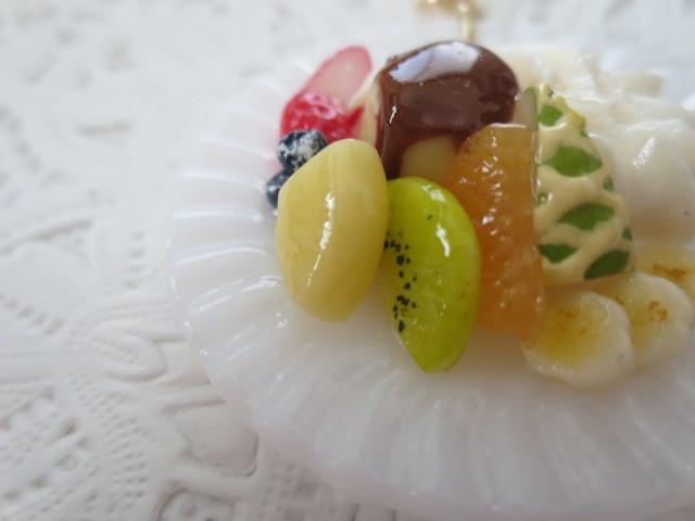 ☆フルーツたくさんプリンアラモードのキーホルダー☆