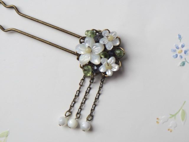 白い花のかんざし2